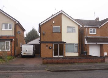 Thumbnail 4 bed detached house to rent in Bideford Road, Leicester