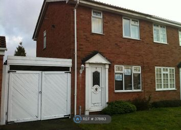 Thumbnail 2 bed semi-detached house to rent in Packwood Close, Willenhall