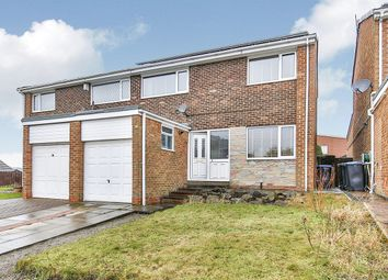 Thumbnail 3 bed semi-detached house for sale in Hollywell Court, Ushaw Moor, Durham