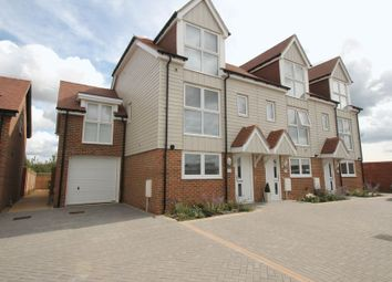 Thumbnail 3 bed town house for sale in Juniper Way, Hawkinge, Folkestone