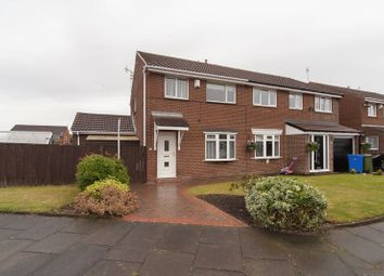 Thumbnail 3 bed semi-detached house for sale in Burnham Close, South Beach, Blyth