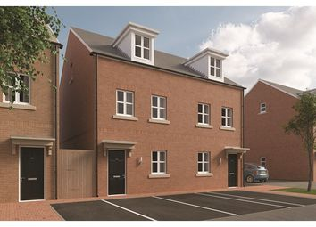 Thumbnail 3 bedroom town house for sale in The Burghclere, Fetlock Drive, Newbury, Berkshire