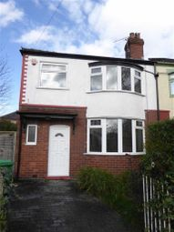 Thumbnail 3 bed semi-detached house to rent in Sibson Road, Chorlton Cum Hardy, Manchester