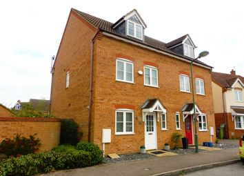 Thumbnail 3 bed town house for sale in Garwood Crescent, Grange Farm, Milton Keynes