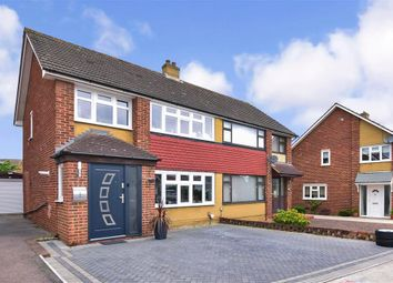 Thumbnail 3 bed semi-detached house for sale in Kelso Drive, Gravesend, Kent