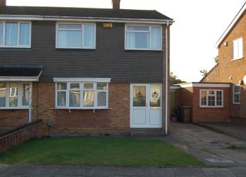 Thumbnail 3 bed semi-detached house to rent in Benson Close, Brammingham Wood, Luton