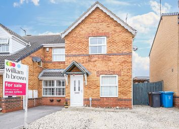 Thumbnail 2 bed semi-detached house for sale in Bowmont Way, Kingswood, Hull