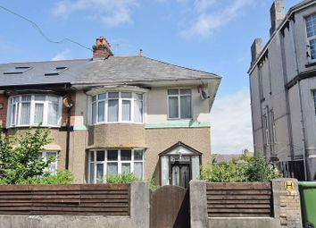 Thumbnail 3 bed end terrace house for sale in Queens Road, Lipson, Plymouth