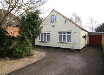 Thumbnail 4 bed detached bungalow for sale in Station Road, Cropston, Leicester