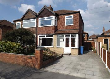Thumbnail 3 bed semi-detached house for sale in Berkeley Avenue, Stretford, Manchester, Greater Manchester
