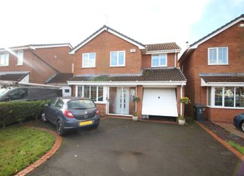 Thumbnail 4 bed detached house for sale in Rowan Drive, Wolverhampton, West Midlands