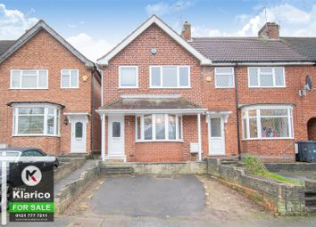 Thumbnail 3 bed end terrace house for sale in Gracemere Crescent, Hall Green, Birmingham