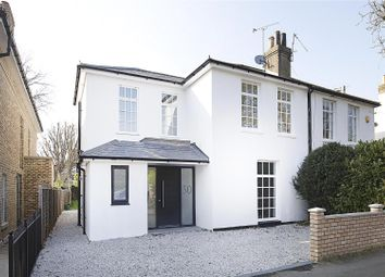 Thumbnail 4 bed semi-detached house for sale in Manor Road, East Molesey, Surrey