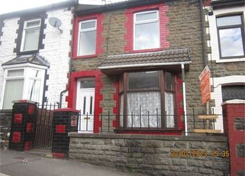 Thumbnail 3 bed terraced house to rent in Clyngwyn Road, Blaenrhondda, Rhondda Cynon Taff.