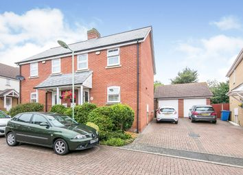 Thumbnail 2 bed semi-detached house for sale in Hares Walk, Sudbury