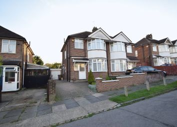 Thumbnail 3 bed semi-detached house to rent in Exton Avenue, Luton