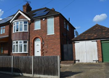 Thumbnail 3 bed semi-detached house to rent in Midway Road, Evington, Leicester