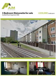 Thumbnail 3 bed maisonette for sale in Gosfield Road, Dagenham