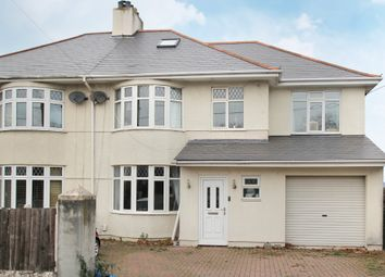 Thumbnail 5 bed semi-detached house for sale in Furzehatt Road, Plymstock, Plymouth