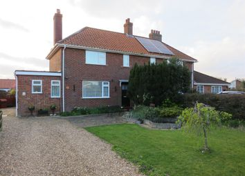 Thumbnail 3 bed semi-detached house for sale in Lincoln Avenue, Hingham, Norwich
