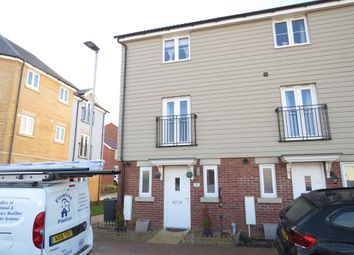 Thumbnail 3 bed town house for sale in Falcon Crescent, Costessey, Norwich