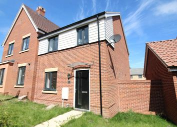 Thumbnail 3 bedroom semi-detached house for sale in Cecil Sparkes Walk, Costessey, Norwich