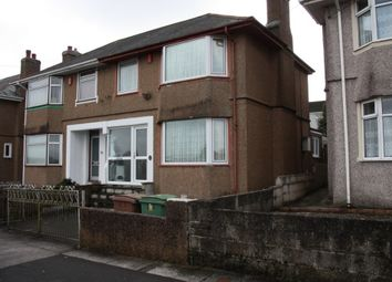 Thumbnail 3 bed semi-detached house to rent in Marina Road, Plymouth