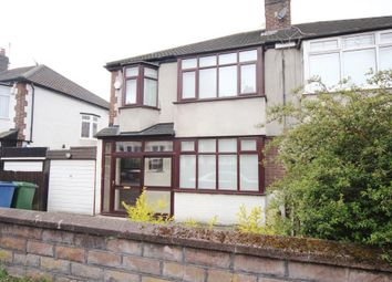 Thumbnail 3 bed semi-detached house to rent in Fernwood Road, Aigburth, Liverpool