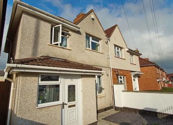 Thumbnail 3 bed semi-detached house to rent in Connaught Road, Knowle, Bristol
