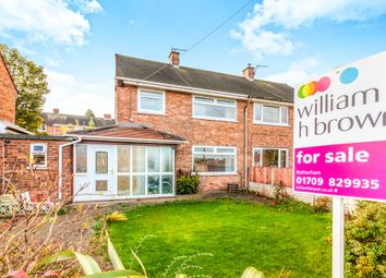 Thumbnail 3 bed semi-detached house for sale in Roughwood Road, Greasbrough, Rotherham
