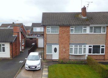 Thumbnail 3 bed semi-detached house for sale in Coleridge Way, Crewe
