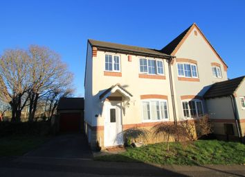 Thumbnail 3 bed semi-detached house for sale in Clover Walk, Latchbrook, Saltash