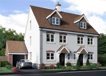 "Thumbnail 3 bedroom town house for sale in ""Edale"" at Hollybush Lane, Burghfield Common, Reading"