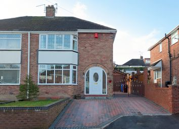 Thumbnail 3 bed semi-detached house for sale in Coupe Drive, Weston Coyney, Stoke-On-Trent
