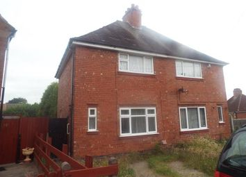 Thumbnail 2 bedroom semi-detached house for sale in The Greenfield, Coventry, West Midlands