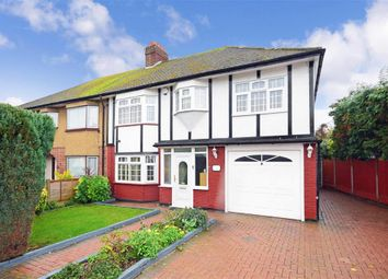 Thumbnail 4 bed semi-detached house for sale in The Ridgeway, Harold Wood, Essex