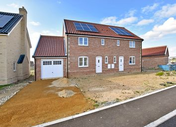 Thumbnail 3 bed semi-detached house for sale in Roxbury Drive, East Harling, Norwich