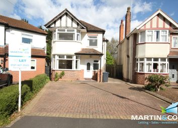 Thumbnail 3 bed detached house to rent in Wheats Avenue, Harborne