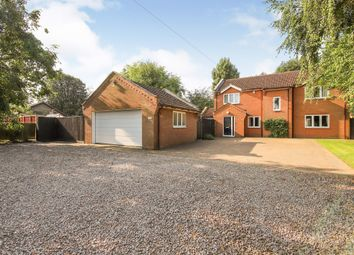 Thumbnail 4 bed detached house for sale in Main Road, Quadring, Spalding