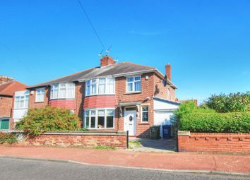 Thumbnail 3 bed semi-detached house for sale in Purley Gardens, Kenton, Newcastle Upon Tyne