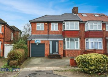 Thumbnail 4 bed semi-detached house for sale in Brantwood Gardens, Oakwood, Enfield