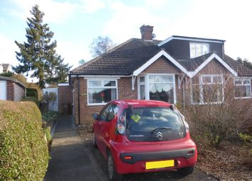 Thumbnail 3 bedroom semi-detached bungalow for sale in Knights Lane, Kingsthorpe Village, Northampton