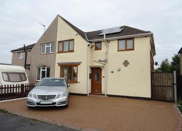 Thumbnail 4 bed semi-detached house for sale in East Crescent, Ellistown, Leicestershire