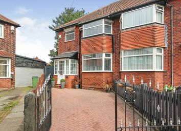Thumbnail 3 bed semi-detached house for sale in Harewood Grove, Reddish, Stockport