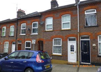Thumbnail 2 bed terraced house to rent in Hartley Road, Luton
