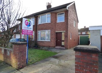 Thumbnail 3 bed semi-detached house to rent in Hatfield Close, Thornton-Cleveleys