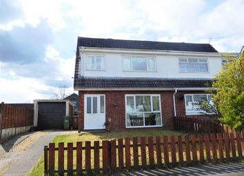 Thumbnail 3 bed semi-detached house for sale in Oxwich Close, Cefn Hengoed, Ystrad Mynach
