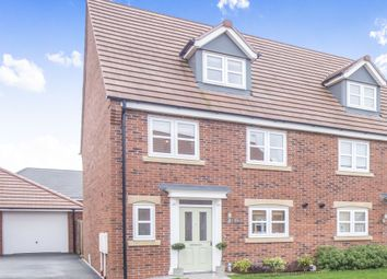 Thumbnail 4 bed semi-detached house for sale in Devana Way, Great Glen, Leicester