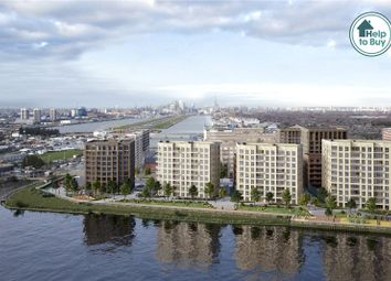 Thumbnail 2 bed flat for sale in Royal Albert Wharf, Docklands, London