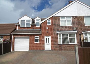 Thumbnail 5 bedroom semi-detached house for sale in The Roundway, Thurmaston, Leicester, Leicestershire